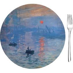 "Impression Sunrise by Claude Monet 8"" Glass Appetizer / Dessert Plates - Single or Set"