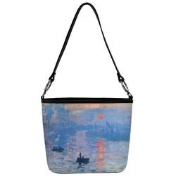 Impression Sunrise Bucket Bag w/ Genuine Leather Trim