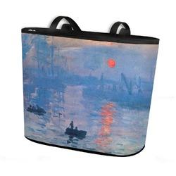 Impression Sunrise Bucket Tote w/ Genuine Leather Trim