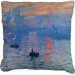Impression Sunrise by Claude Monet Faux-Linen Throw Pillow