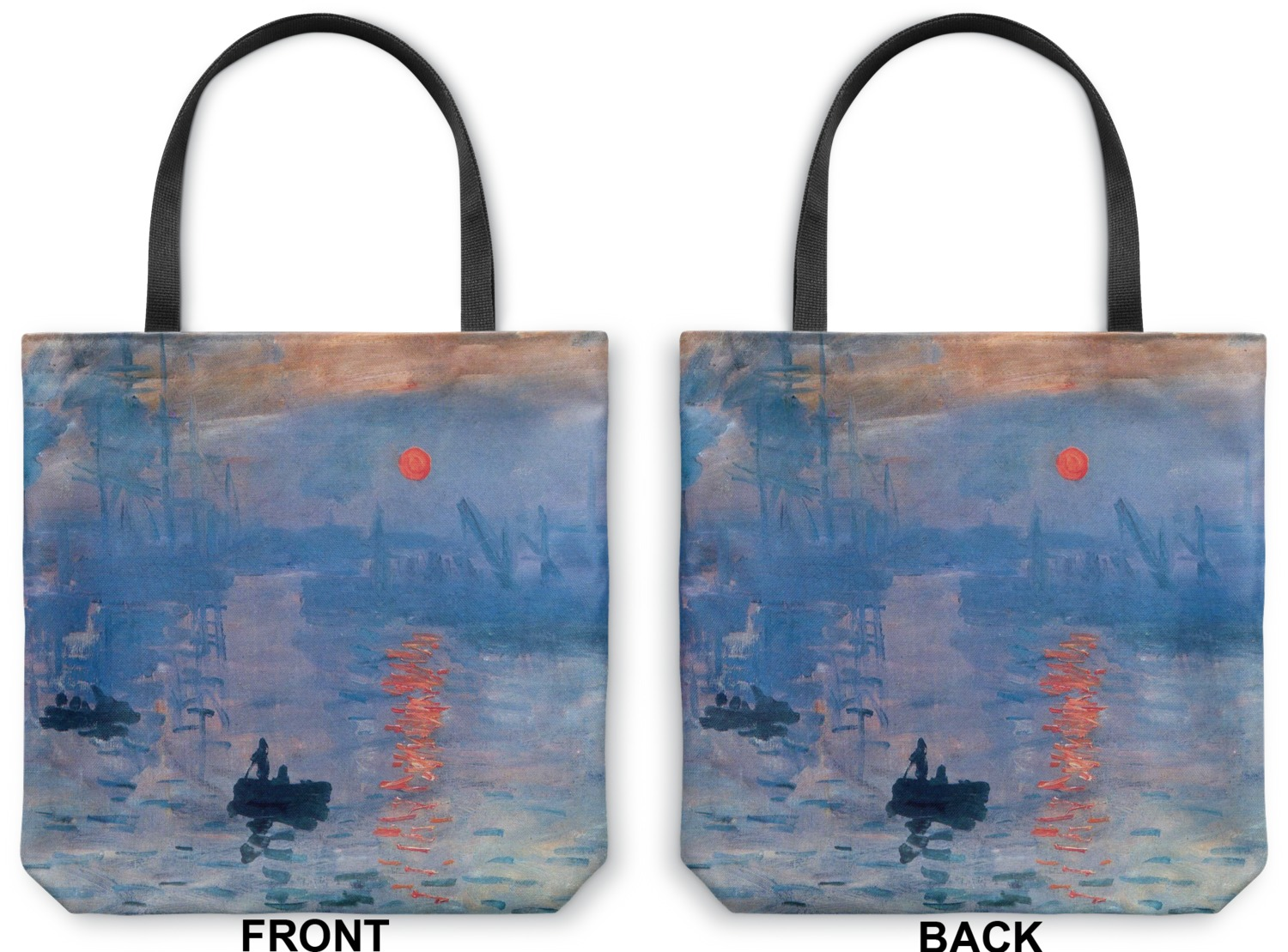 impression sunrise canvas tote bag medium 16 x16 youcustomizeit. Black Bedroom Furniture Sets. Home Design Ideas