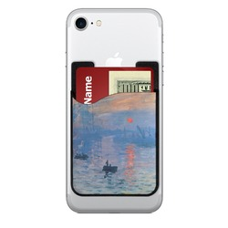 Impression Sunrise by Claude Monet 2-in-1 Cell Phone Credit Card Holder & Screen Cleaner