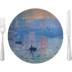 """Impression Sunrise by Claude Monet 10"""" Glass Lunch / Dinner Plates - Single or Set"""