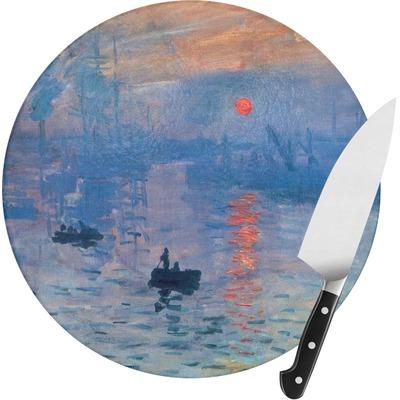 Impression Sunrise Round Glass Cutting Board