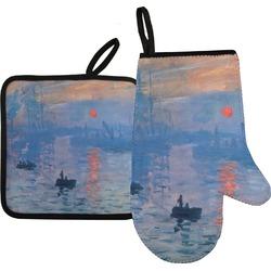 Impression Sunrise by Claude Monet Oven Mitt & Pot Holder Set
