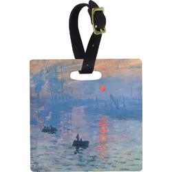 Impression Sunrise by Claude Monet Luggage Tags