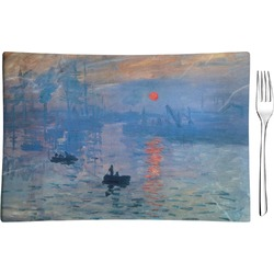 Impression Sunrise by Claude Monet Rectangular Glass Appetizer / Dessert Plate - Single or Set