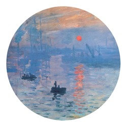 Impression Sunrise by Claude Monet Round Decal