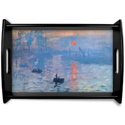 Impression Sunrise Black Wooden Tray