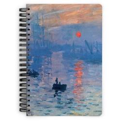 Impression Sunrise by Claude Monet Spiral Notebook