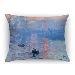 Impression Sunrise by Claude Monet Rectangular Throw Pillow Case