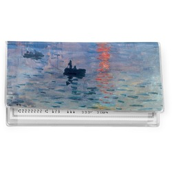 Impression Sunrise by Claude Monet Vinyl Checkbook Cover