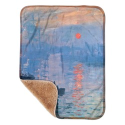 "Impression Sunrise by Claude Monet Sherpa Baby Blanket 30"" x 40"""