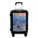 Impression Sunrise by Claude Monet Carry On Hard Shell Suitcase