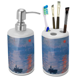Impression Sunrise by Claude Monet Ceramic Bathroom Accessories Set