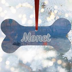 Impression Sunrise by Claude Monet Ceramic Dog Ornaments