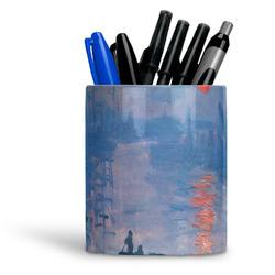 Impression Sunrise by Claude Monet Ceramic Pen Holder