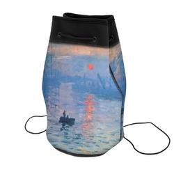 Impression Sunrise by Claude Monet Neoprene Drawstring Backpack