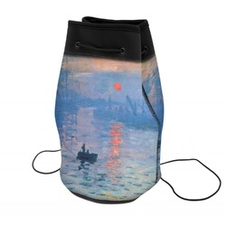 Impression Sunrise by Claude Monet Neoprene Drawstring Backpack