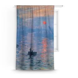 Impression Sunrise by Claude Monet Curtain