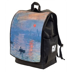 Impression Sunrise by Claude Monet Backpack w/ Front Flap