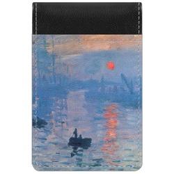 Impression Sunrise by Claude Monet Genuine Leather Small Memo Pad