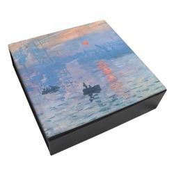 Impression Sunrise by Claude Monet Leatherette Keepsake Box - 8x8