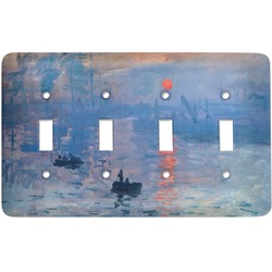 Impression Sunrise by Claude Monet Light Switch Cover (4 Toggle Plate)