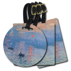 Impression Sunrise by Claude Monet Plastic Luggage Tags