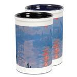 Impression Sunrise by Claude Monet Ceramic Pencil Holder - Large