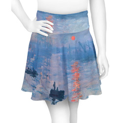 Impression Sunrise by Claude Monet Skater Skirt