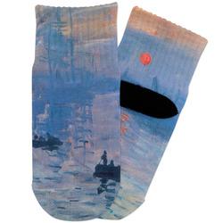 Impression Sunrise by Claude Monet Toddler Ankle Socks