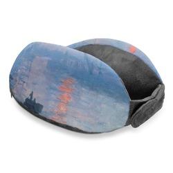 Impression Sunrise by Claude Monet Travel Neck Pillow