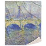 Waterloo Bridge by Claude Monet Sherpa Throw Blanket