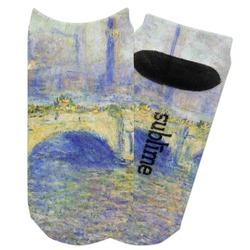 Waterloo Bridge by Claude Monet Adult Ankle Socks