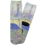 Waterloo Bridge by Claude Monet Adult Crew Socks