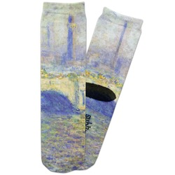 Waterloo Bridge by Claude Monet Adult Crew Socks