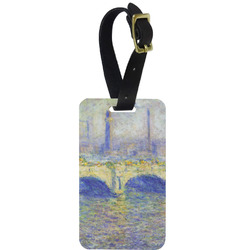 Waterloo Bridge by Claude Monet Aluminum Luggage Tag
