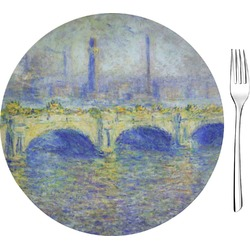 "Waterloo Bridge by Claude Monet 8"" Glass Appetizer / Dessert Plates - Single or Set"