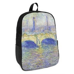 Waterloo Bridge by Claude Monet Kids Backpack