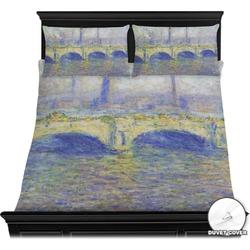 Waterloo Bridge by Claude Monet Duvet Cover Set