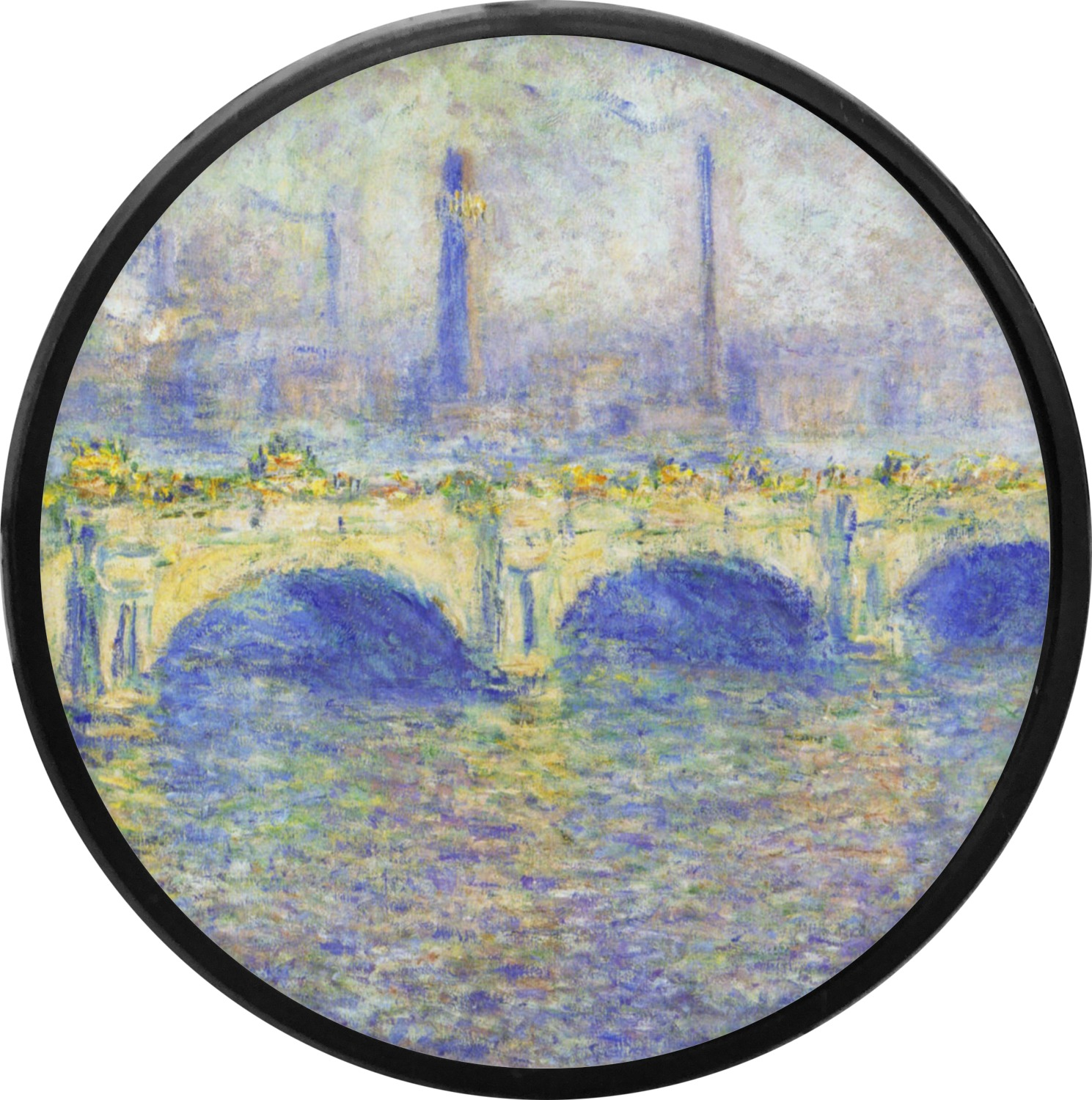 Waterloo Bridge By Claude Monet Round Trailer Hitch Cover