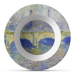 Waterloo Bridge by Claude Monet Plastic Bowl - Microwave Safe - Composite Polymer