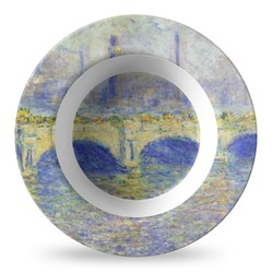 Waterloo Bridge by Claude Monet Plastic Bowl - Microwave Safe - Composite Polymer