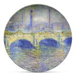 Waterloo Bridge by Claude Monet Microwave Safe Plastic Plate - Composite Polymer