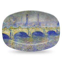 Waterloo Bridge by Claude Monet Plastic Platter - Microwave & Oven Safe Composite Polymer