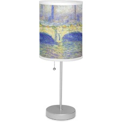 """Waterloo Bridge by Claude Monet 7"""" Drum Lamp with Shade Polyester"""