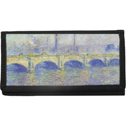 Waterloo Bridge by Claude Monet Canvas Checkbook Cover