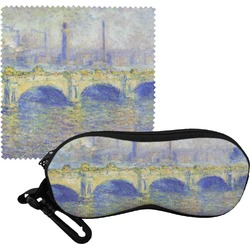 Waterloo Bridge by Claude Monet Eyeglass Case & Cloth