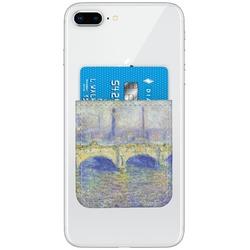 Waterloo Bridge by Claude Monet Genuine Leather Adhesive Phone Wallet